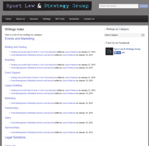 SportLaw.ca | Custom WordPress Coding