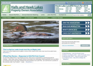 Halls Hawk Lakes Website Clip